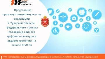 Компания «Смарт Дельта Системс» представила промежуточные результаты реализации в Тульской области федерального проекта «Создание единого цифрового контура в здравоохранении на основе  ЕГИСЗ»